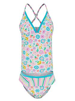 Girls UPF50+ Bloom Singlet Kini