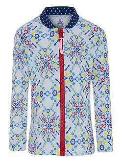 Girls UPF50+ Kaleidoscope LS Sun Jacket