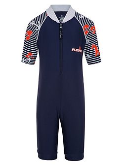 Boys UPF50+ Lobster Catch Sunsuit