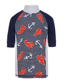 Platypus Australia Boys UPF50+ Lobster Catch SS Sunshirt