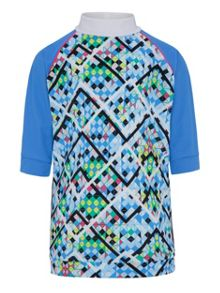 Platypus Australia Girls UPF50+ Illusion SS Sunshirt