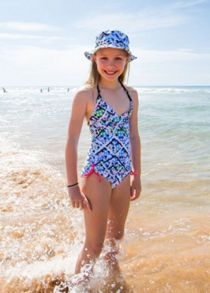 Platypus Australia Girls UPF50+ Illusion Sun Hat