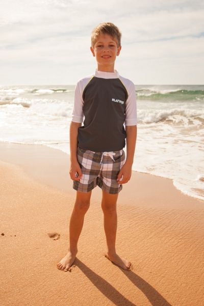 Platypus Australia Boys UPF50+ Graphic Waves SS Sunshirt