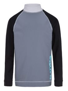 Platypus Australia Boys UPF50+ Graphic Waves LS Sunshirt