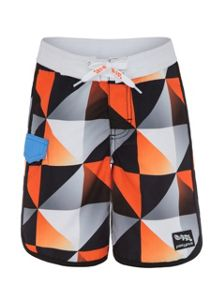 Platypus Australia Boys UPF50+ Graphic Waves Boardshort