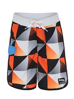 Boys UPF50+ Graphic Waves Boardshort