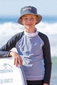 Platypus Australia Boys UPF50+ Graphic Waves Bucket Hat