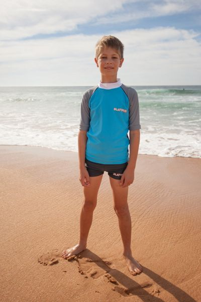 Platypus Australia Boys UPF50+ Graphic Waves Boy Boyleg
