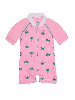 Girls UPF50+ Flamingo Baby SS Sunskirt