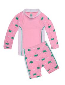 Platypus Australia Girls UPF50+ Flamingo Baby Sunset