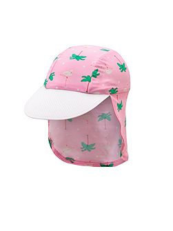Girls UPF50+ Flamingo Cap