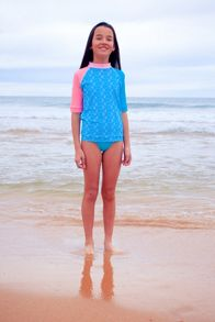 Platypus Australia Girls UPF50+ Tribal SS Sunshirt