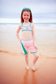Platypus Australia Girls UPF50+ Flamingo Long Boardshort