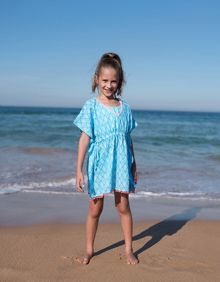 Platypus Australia Girls Tribal Sundress with Poms Poms