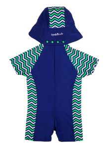 Rashoodz Boy`s sunsuit with chevron panelling