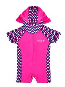 Rashoodz Girl`s sunsuit with chevron panelling
