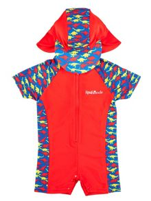 Rashoodz Boy`s sunsuit with dinosaur print