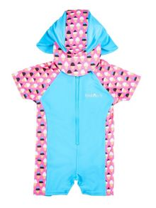 Girl`s sunsuit with ice-cream print