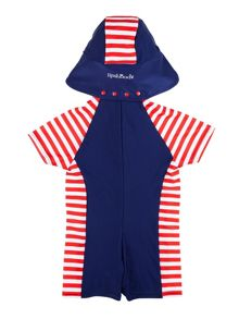 Kids sunsuit with stripe print