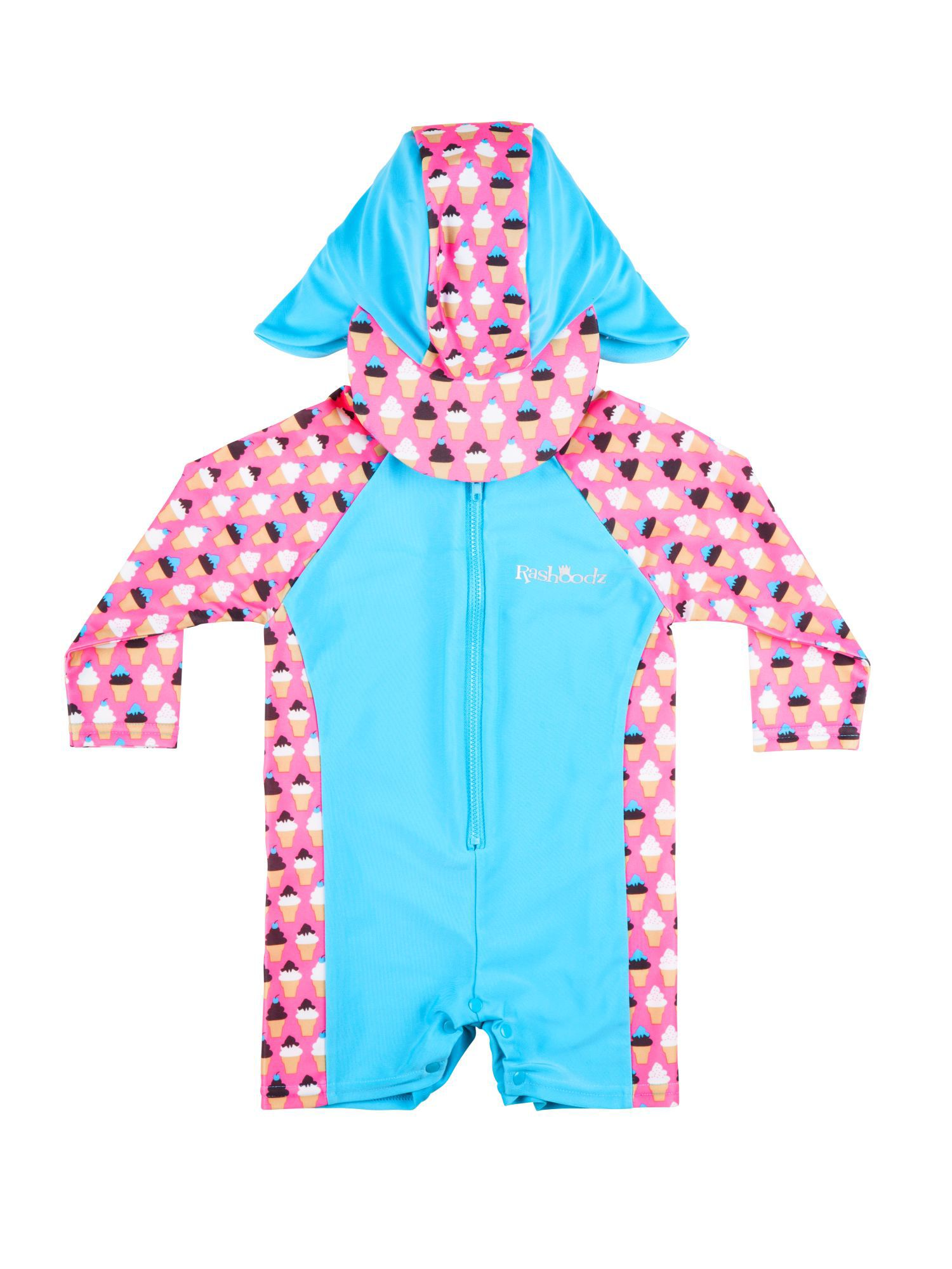 Rashoodz Girl`s sunsuit with icecream print Blue