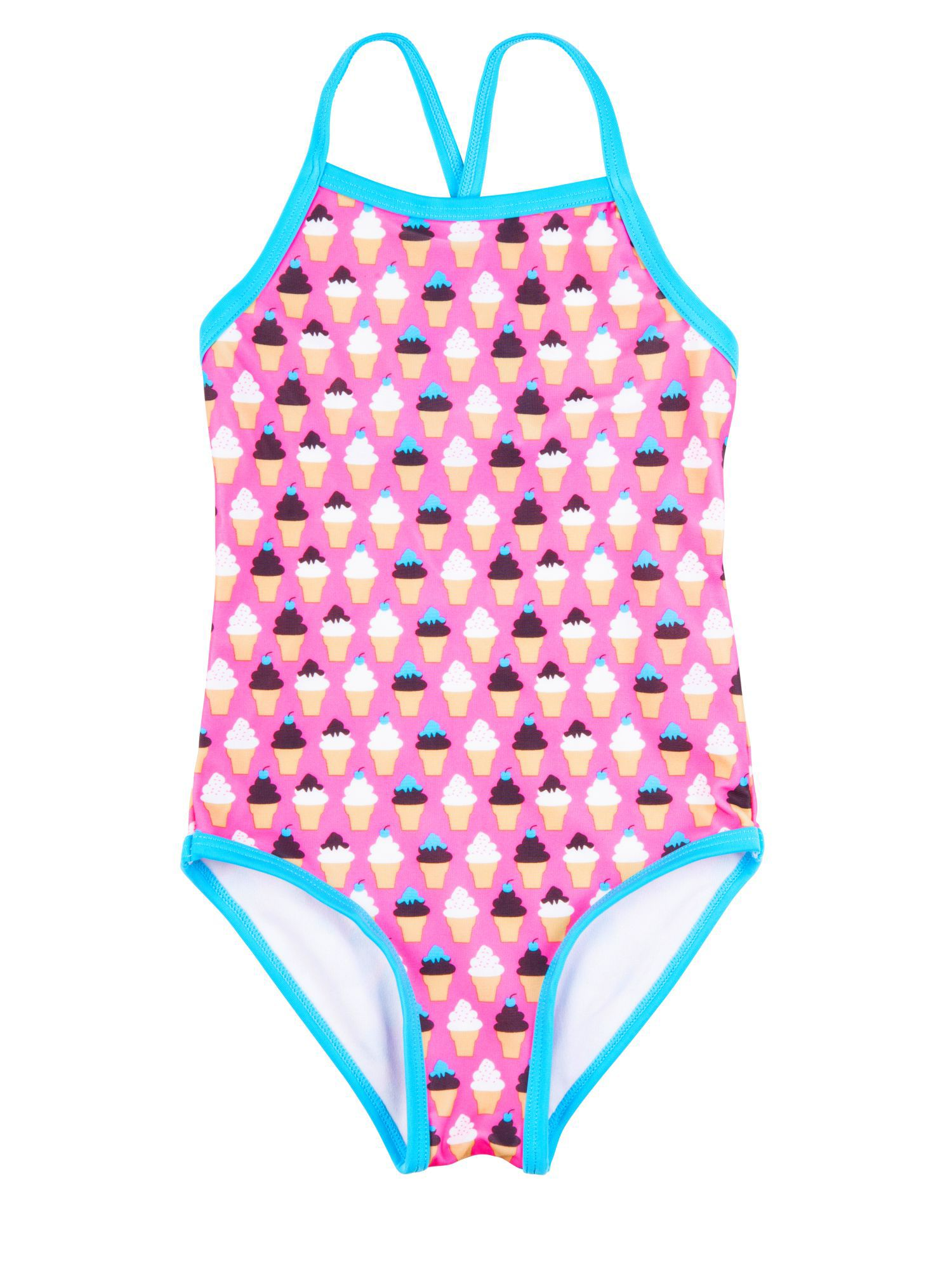 Rashoodz Girl`s swimsuit with icecream print Pink