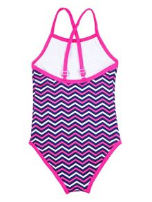 Rashoodz Girl`s swimsuit with chevron print