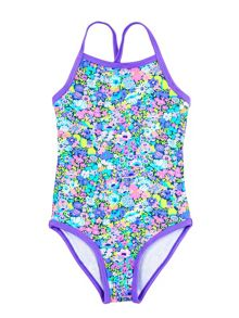 Rashoodz Girl`s swimsuit with floral print