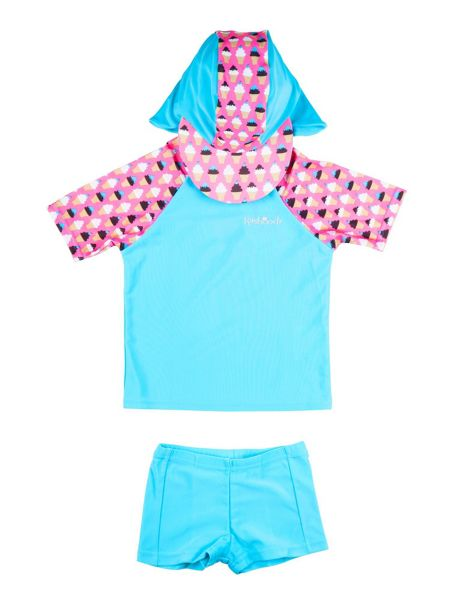 Rashoodz Girl`s swimwear set with ice-cream print