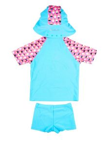 Girl`s swimwear set with ice-cream print