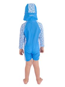 Boy`s Swimsuit and Attachable Hat