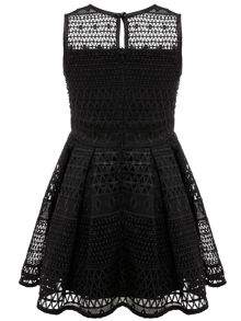Bardot Junior Girl`s Mesh Panel Sleeveless Dress