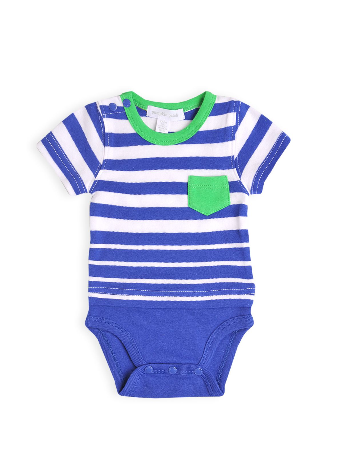 Boys stripe mock t-shirt bodysuit