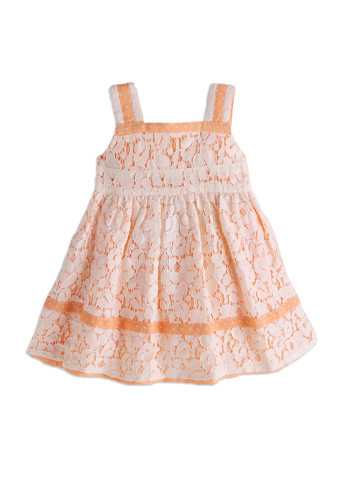 Girls contrast lace dress