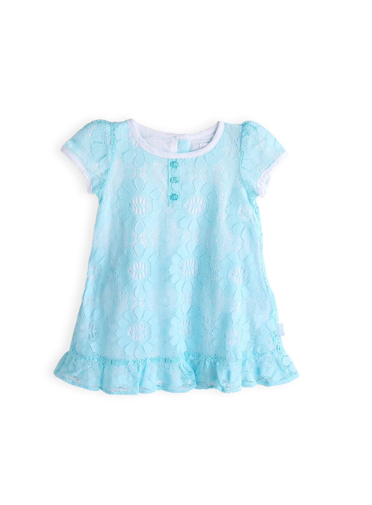 Girls cotton lace dress