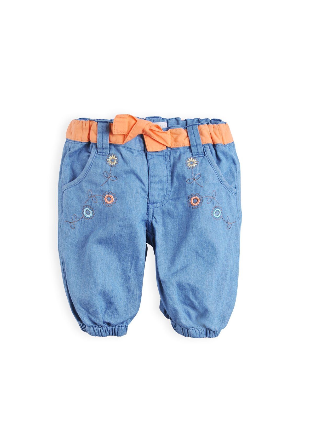Girls soft denim ballon pants