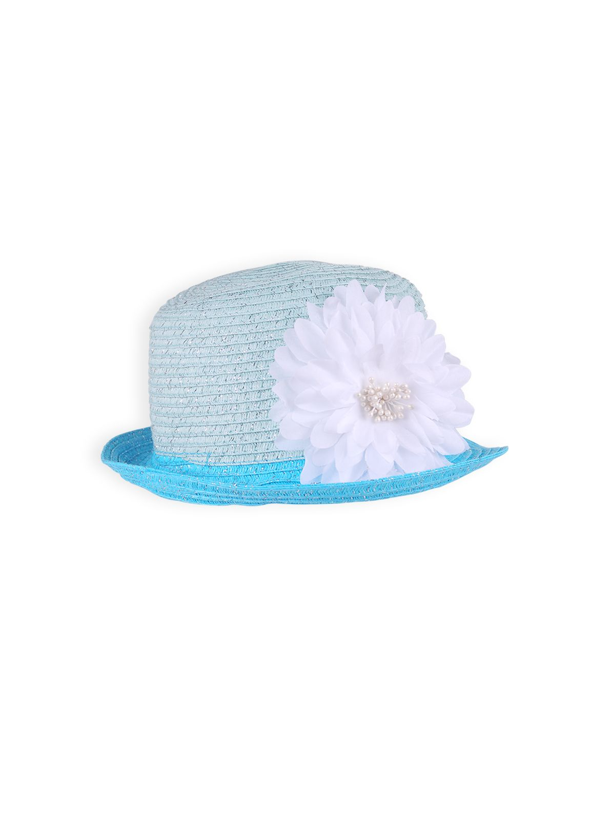 Girls botanical flower fedora hat