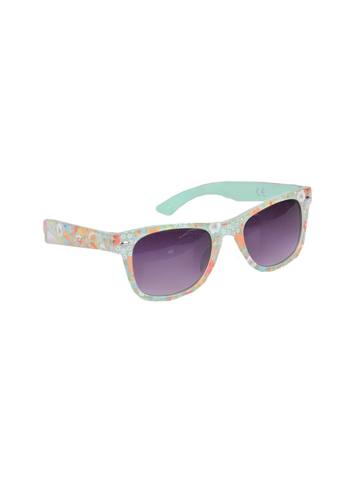 Girls flower print wayfarer sunglasses