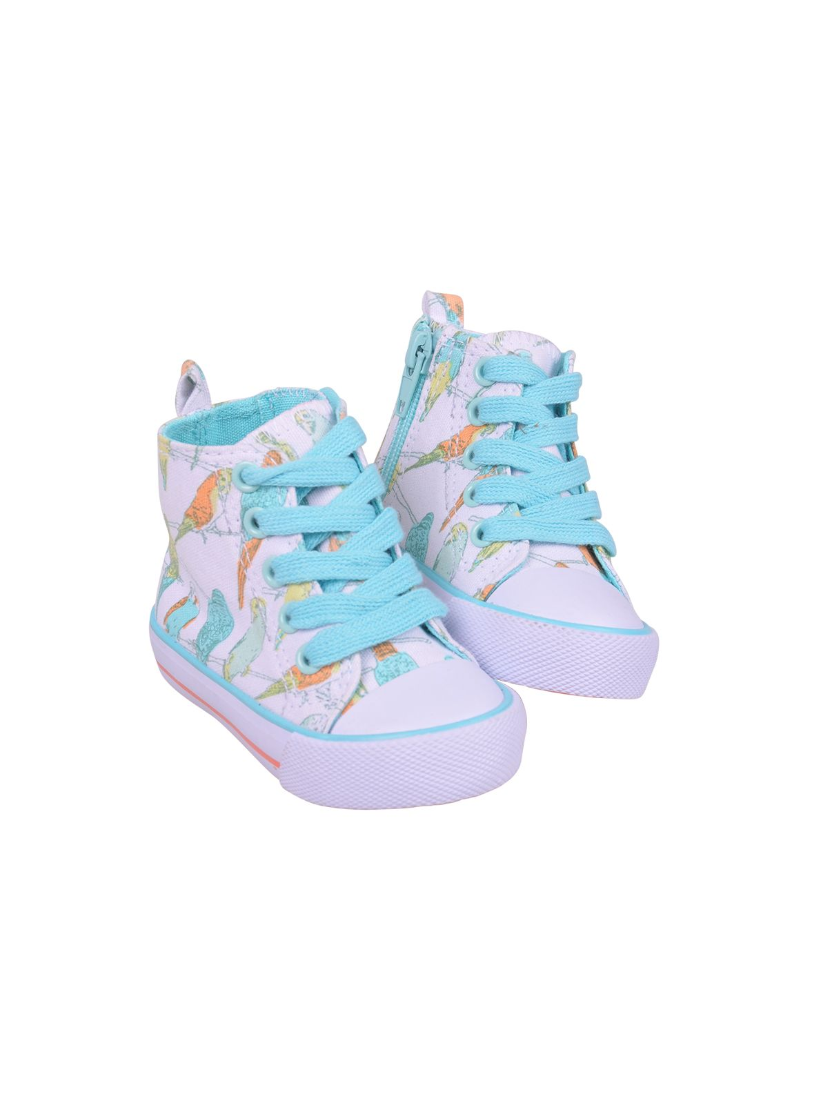 Girls budgie print high top trainers
