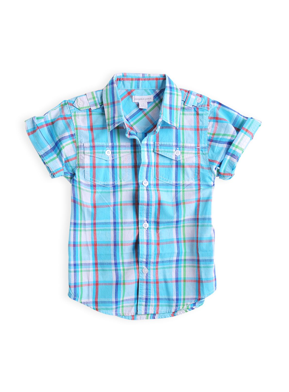 Boys check short sleeve shirt