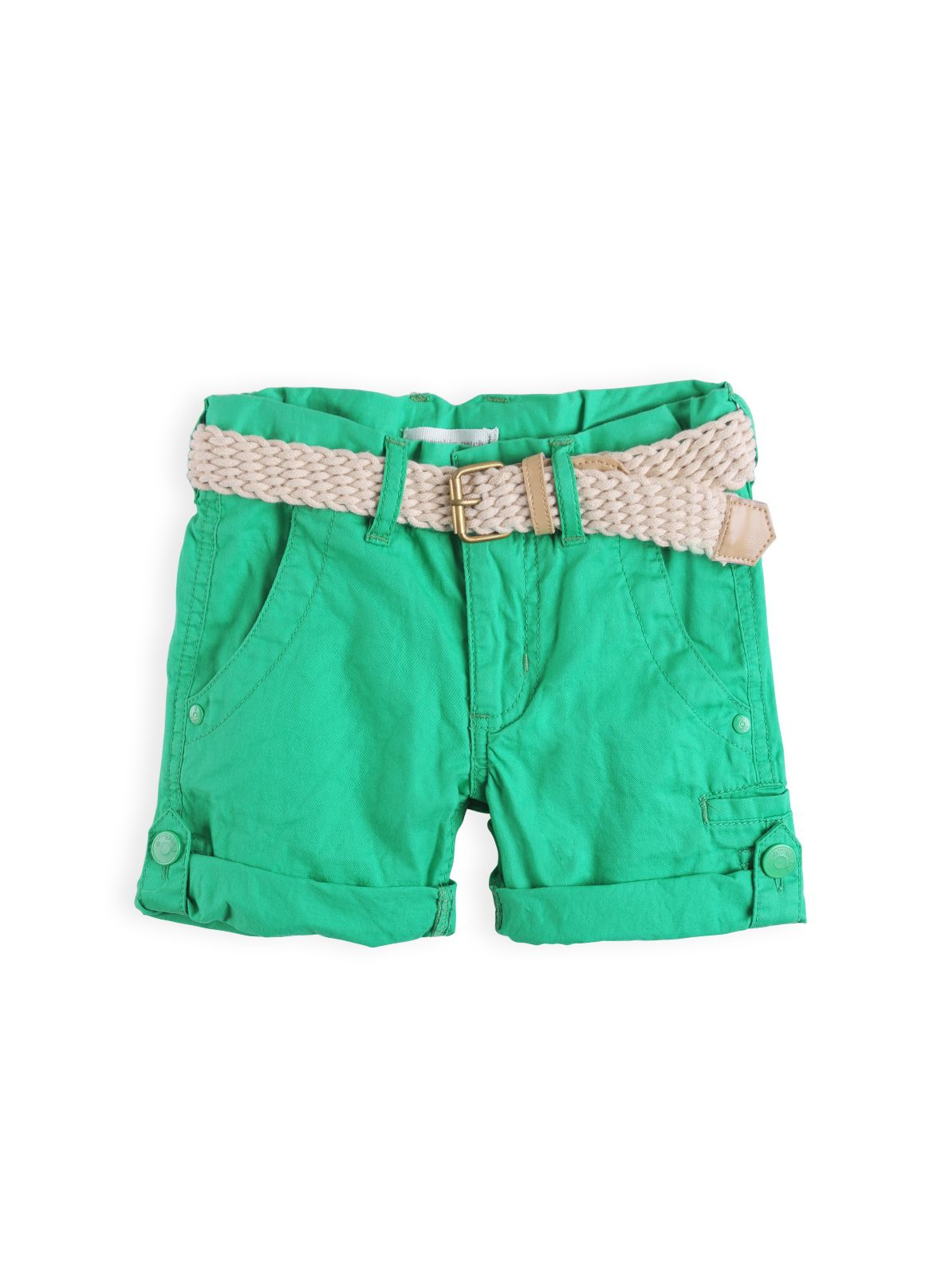 Boys chino shorts with belt