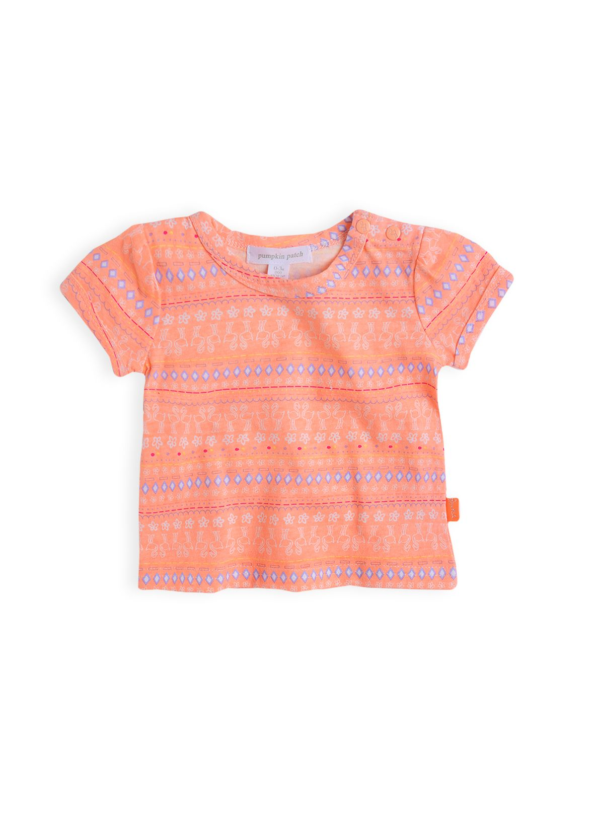 Girls flamingo aztec top