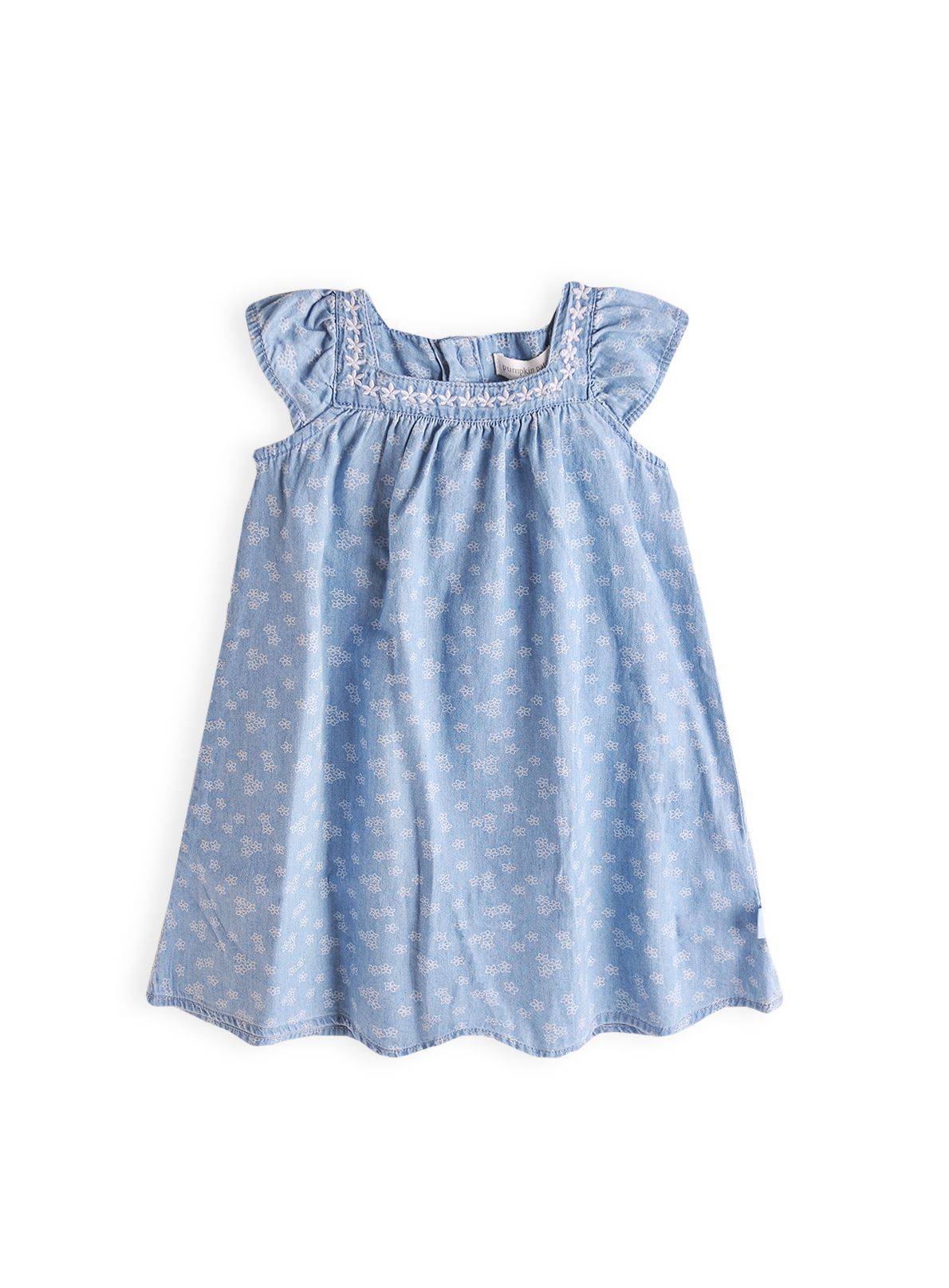 Girls frangapani chambray dress