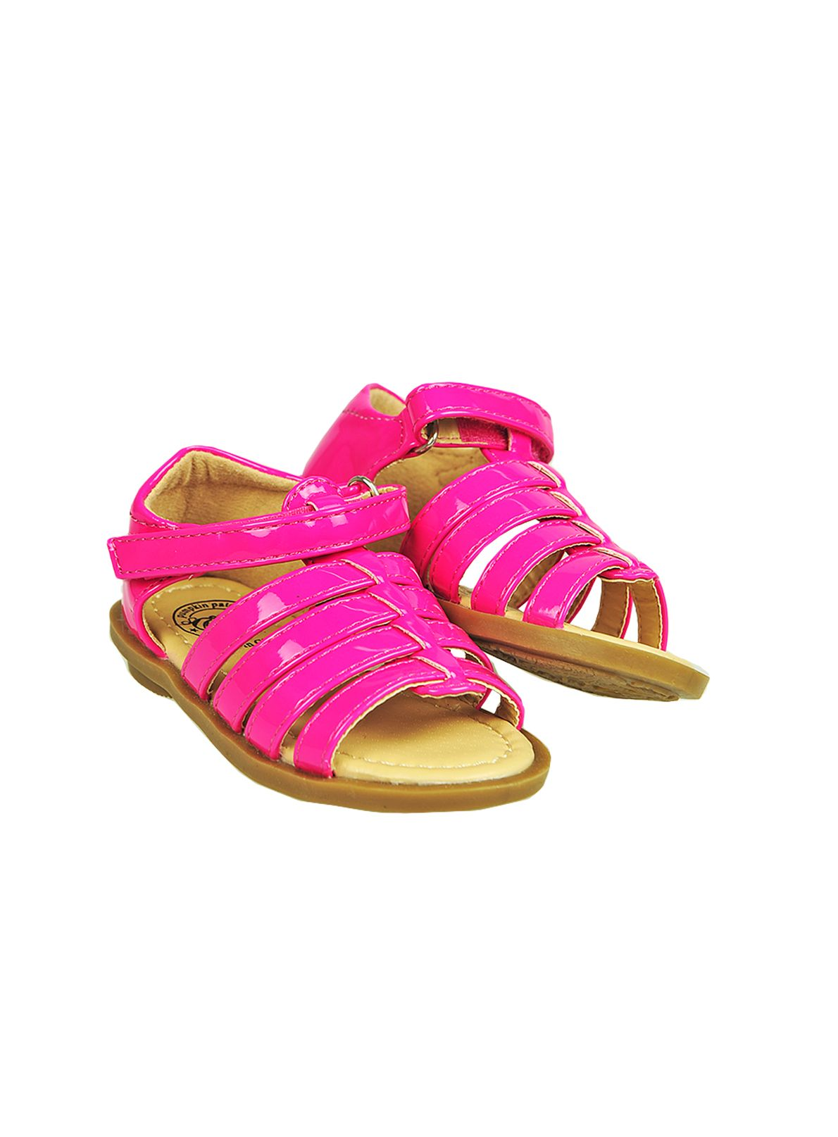 Girls patent first walker sandal