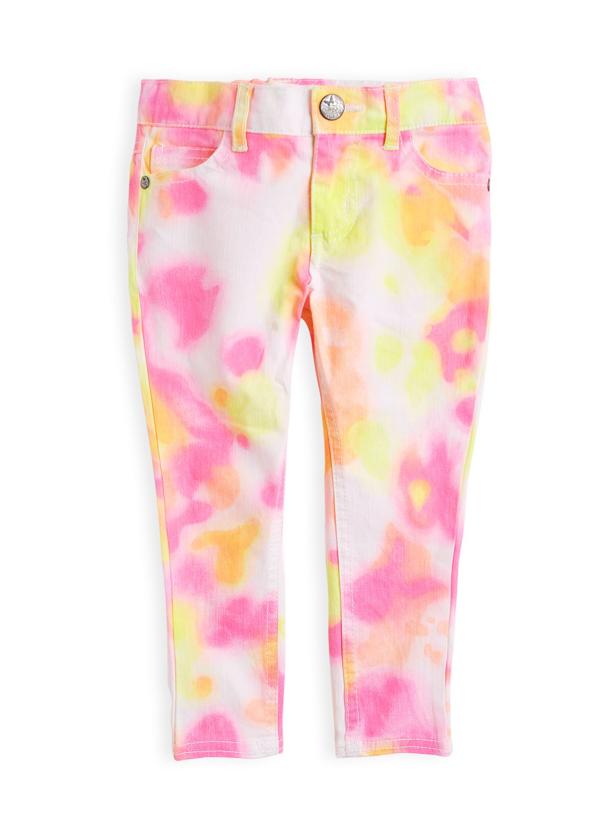 Girls multi colour grazier jeans
