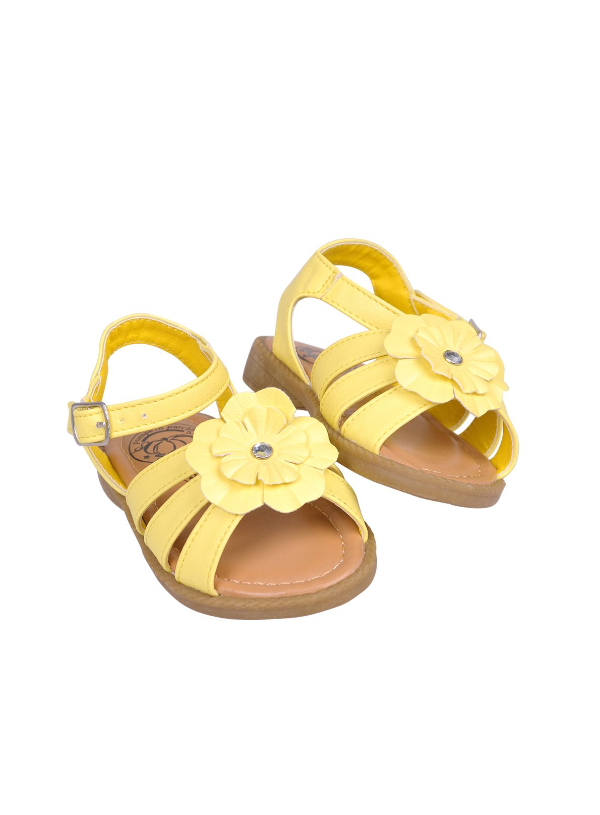 Girls yellow blossom sandal