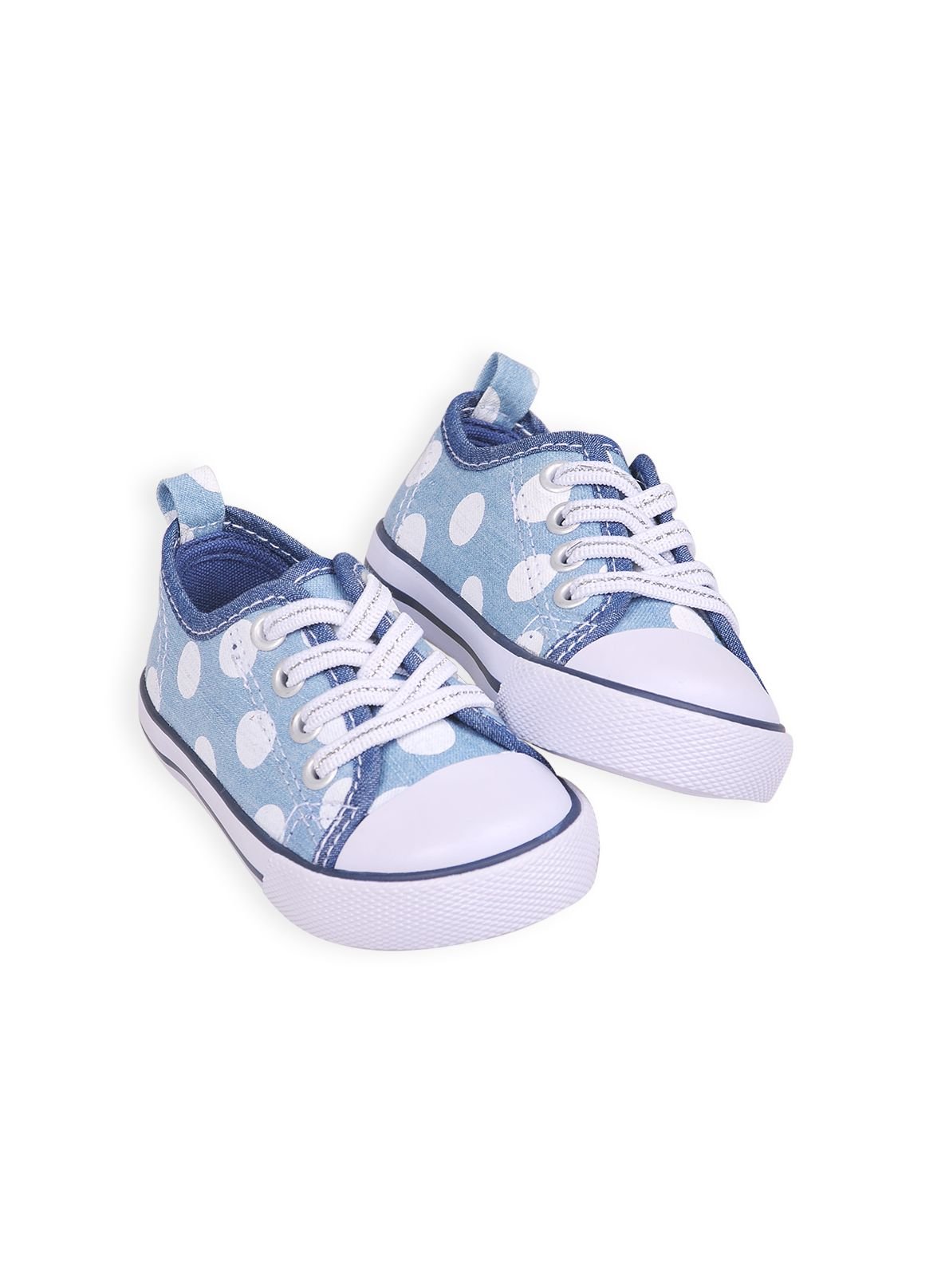 Girls big spot denim trainers