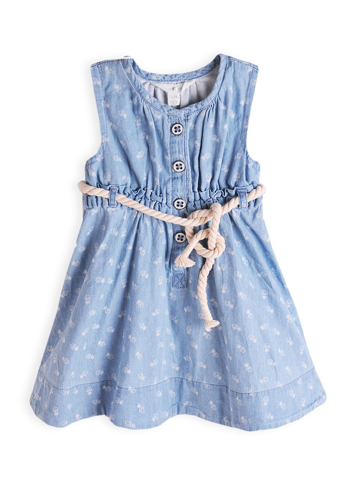 Girls pinapple print dress