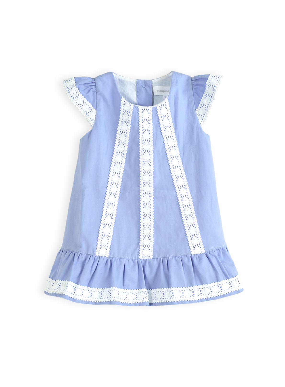 Girls lace insert dress