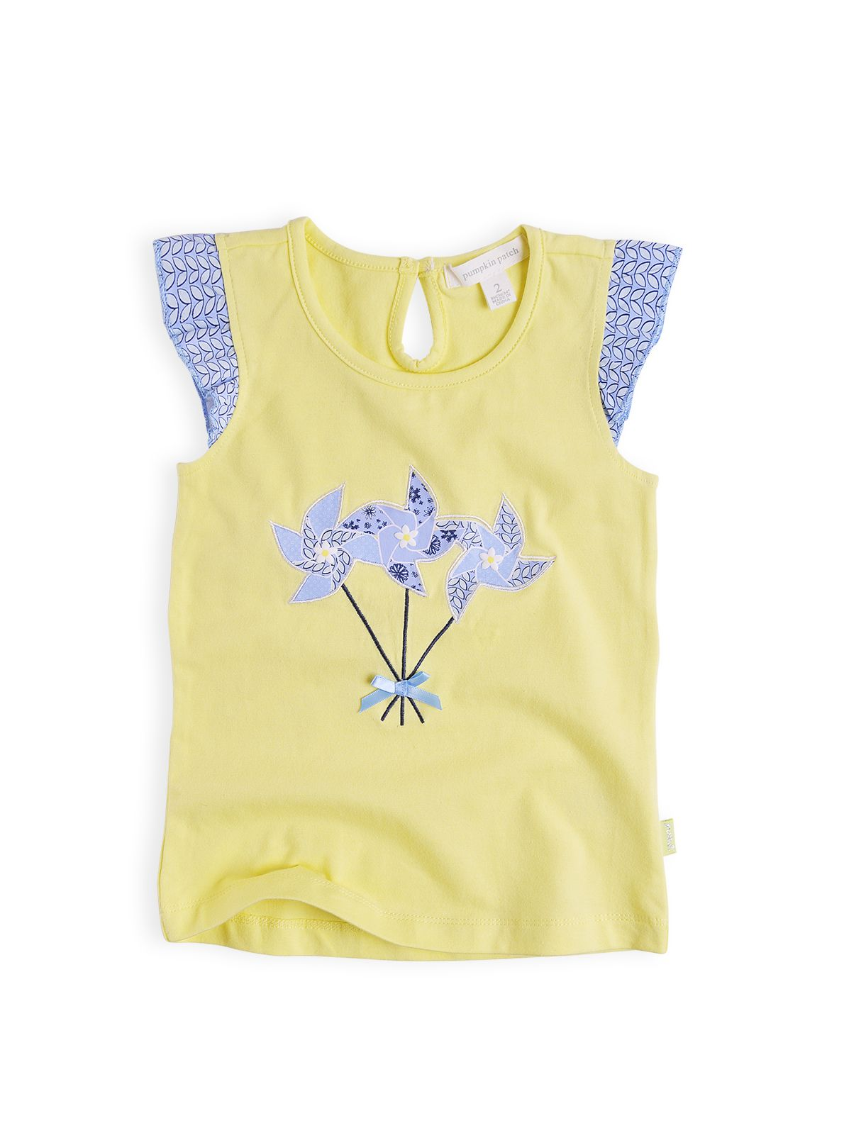 Girls windmill applique top