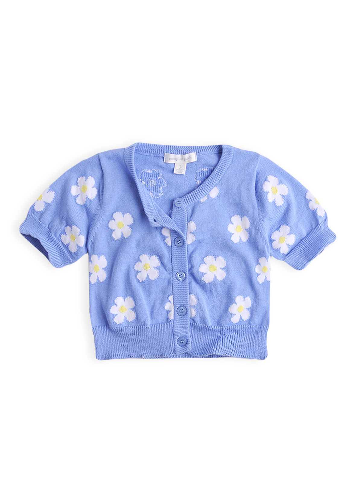 Girls daisy crop cardigan